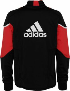 DC United Black Long Sleeve Training Top Jersey Shirt Mens XL Adidas