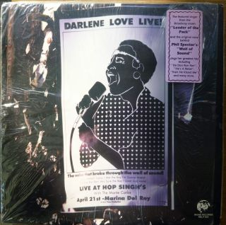 DARLENE LOVE LIVE LP 1985 MARINA CONCERT PHIL SPECTOR THE CRYSTALS R R