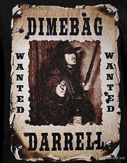 Dimebag Darrell Wanted Pantera rock metal rare T Shirt S NWT