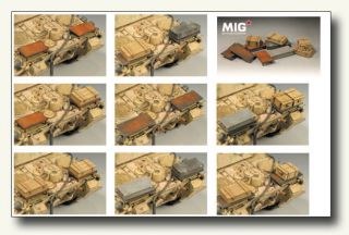 MIG Engine Deck Storage Boxes for 1 35 WW2 Panther D Standard