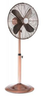 Copper 16 inch Adjustable Floor Standing Fan by Deco Breeze