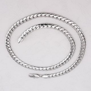 dainty Mens 18K White Gold Filled Solid Special Necklace Chain 24