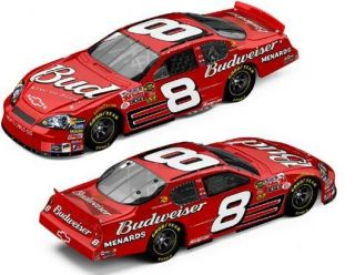 Dale Earnhardt Budweiser Car Collector Display Mint Red