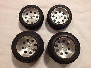 Vintage RC10 Sprint Car Aluminum Wheels Tires