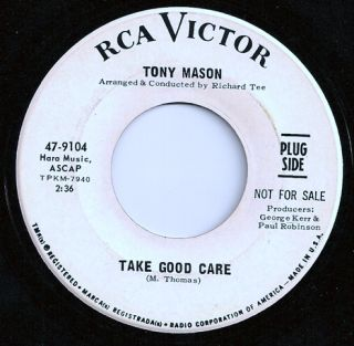 Northern/Deep Soul TONY MASON Take Good Care 45 RCA Listen