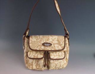 Spartina 449 Daufuskie Island Linen & Leather Purse Handbag Bag