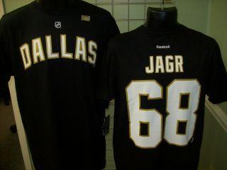 Dallas Stars Jaromir Jagr Black Reebok T Shirt Sz XXL 2XL