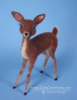 Needle Felted Vintage Style Deer Original Artist Sculpture OOAK Retro