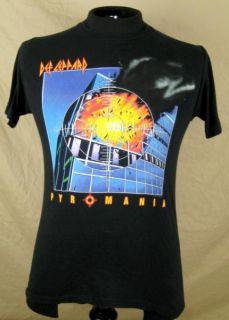 Def Leppard Pyromania Album Cover T Shirt Small Black