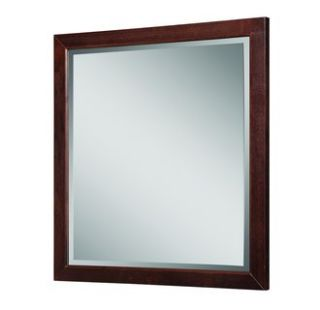 DecoLav 9714 Dwn Dark Walnut Adrianna 30 Square Wall Mirror with