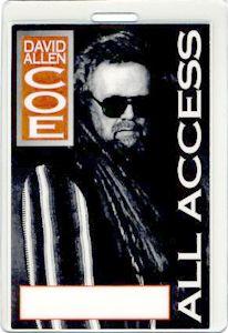 David Allan COE 1995 Tour Laminated Backstage Pass