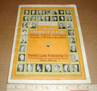 David C Cook Elgin IL 1930 Vintage Old Sunday School Literature Supply