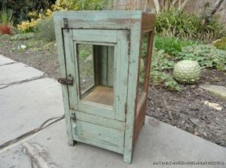 ANTIQUE SHABBY CHIC WOODEN WALL CABINET CUPBOARD BATHROOM DISPLAY