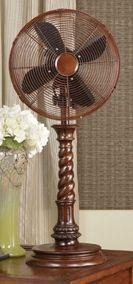 Decorative Oscillating Table Top Fan 12 Portable Decor
