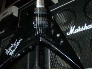 MEGADETH  Dave Mustaine Autographed black DEAN VMNTX GUITAR Mayhem