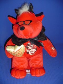Dan Dee Animated and Singing Plush Animal Devil Singing Burning Love