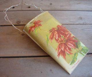 Decor Large Tin Wall Pocket Basket The Poinsettia Xmas