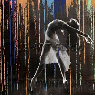 Dance oil painting modern art Handcraft paintings wall decoration