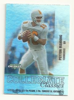 Debut Collegiate Classics Complete Set Manning Moss Carr Bryant