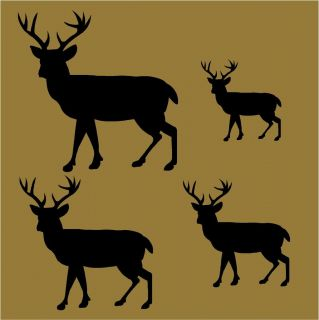 PRIMITIVE STENCIL BUCK DEER SHAPES*4 SIZES* 12x12