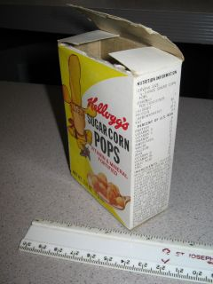 Box 1967 Single Serve Kelloggs Sugar Corn Pops Cartoon Cowboy
