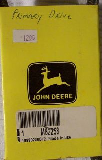 John Deere Mower Drive Belt M82258 New
