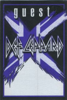 cloth GUEST backstage pass for the DEF LEPPARD 2002 03 X TOUR