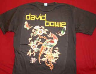 david bowie t shirt moonlight brown size xl new