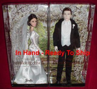 Breaking Dawn Part 1 Barbie BELLA & EDWARD Wedding Day Collector Dolls