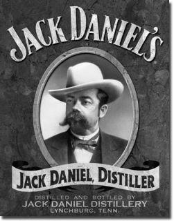 Jack Daniels Distiller Portrait Vintage Metal Tin Sign Ad Bar Room