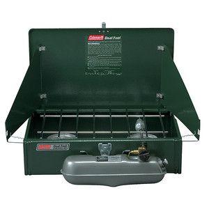 Coleman 2 Burner Dual Fuel Liquid Fuel Camping Stove