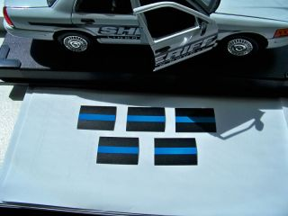 pack Thin Blue Line Decas l/Stickers (1.5 X 1)