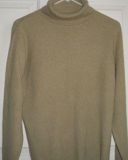 DANIEL BISHOP Green PURE CASHMERE Turtleneck Sweater Womens M