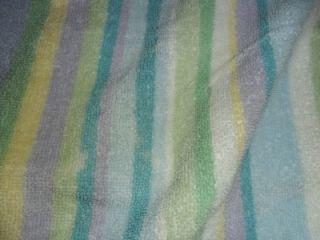 Towel Set Blue Violet Lime White 100 Cotton 2 Bath 2 Hand Towels