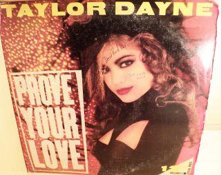 Promotional Promo Taylor Dayne Prove Your Love 12 Vtg LP Vinyl Record