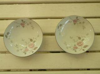 Mikasa Fruit Dessert Bowl Denair Pattern 5288 Set of 2 Bowls Pink Rose