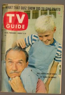 TV Guide Magazine August 1962 Dennis The Menace Jay North Gale Gordon