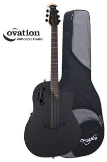 elite tx 1868tx 5 super shallow acoustic electric guitar black w case
