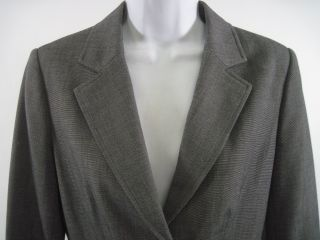 gray black pants jacket suit set in a size 4 the jacket to this