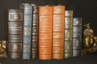 SHELF OF CLASSIC MEDICAL & DENTAL BOOKS. FINE LEATHER BINDINGS.