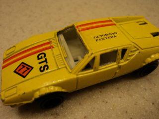 VERY RARE DE TOMASO GTS # 77 YELLOW DIECAST CAR