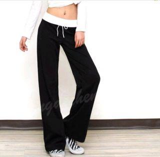 New Hot Fashion Women Girls Soft Yoga Sport Leisure Loosen Long