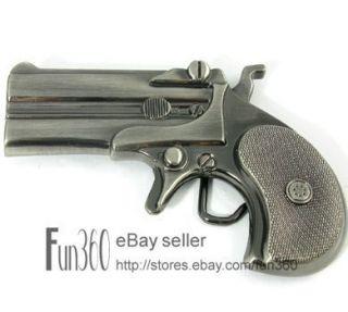 COOL Western Cowboy Military Derringer Gun Handgun Pistol Metal Belt