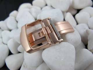 18mm Stainless Steel Watch Deployment buckle Rose Gold New Design