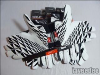 Nike Vapor Jet Football Gloves White Black GF0080 110 Carbon Elite Med
