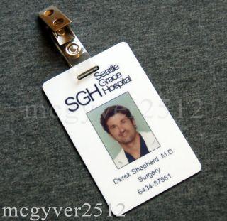 Greys Anatomy Derek Shepherd M D PVC ID Card Badge