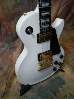 2006 Gibson Les Paul Sudio Whie Ebony Neck Gold HDWR 490R 498 OHSC