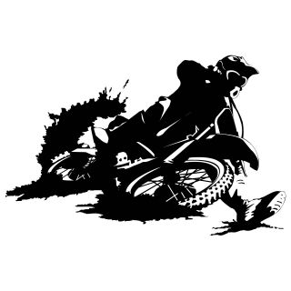 MOTORBIKE DIRTBIKE WALL ART STICKER DECAL BIKE KIDS BED ROOM