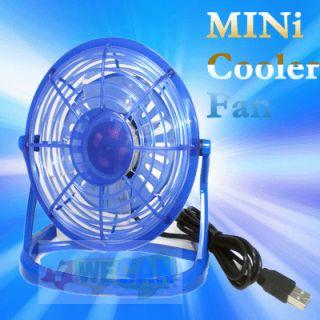 Portable USB Mini Desk Fan Cooler for Laptop PC Quiet