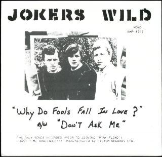 JOKERS WILD FEATURING DAVID GILMOUR BEFORE HE JOINED PINK FLOYD ONLY